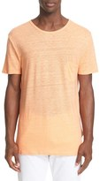 Onia Men's Chad Linen Pocket Tee