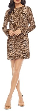 Dress the Population Dahlia Leopard Print Shift Dress