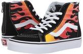 Vans Kids Sk8-Hi Zip Black/Black/True White) Boys Shoes