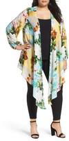 Melissa McCarthy Plus Size Women's Full Sleeve Drape Front Topper