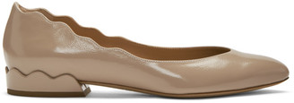 Chloé Pink Patent Lauren Ballerina Flats