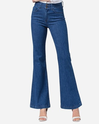 Express Flying Monkey Super High Waisted Flare Jeans