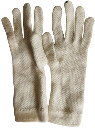 Loro Piana Beige Cashmere Gloves