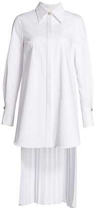 Olivia Palermo Pleat-Back Button-Up Tunic