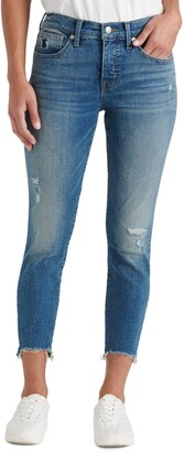 Lucky Brand Ava Distressed Chewed Hem Crop Skinny Jeans