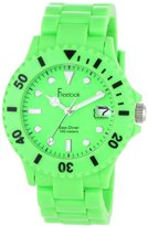 Freelook Women's HA1431-4 Sea Diver Neon Green Band Green Dial Watch
