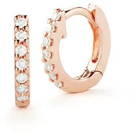Dana Rebecca DRD Mini Diamond Huggies in Rose Gold