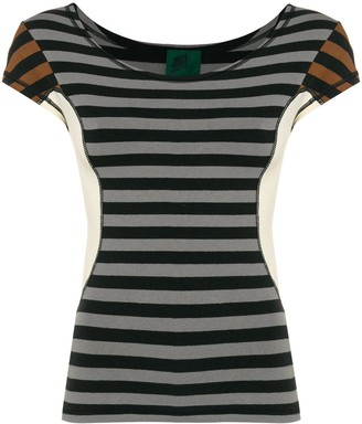 Jean Paul Gaultier Pre-Owned colour block striped T-shirt