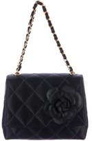 Chanel Satin Camellia Evening Bag