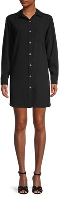 Karen Kane Classic Long-Sleeve Shirtdress
