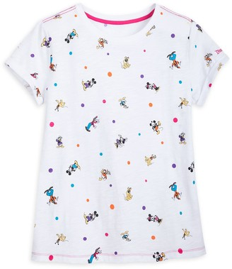 Disney Mickey Mouse and Friends Cap Sleeve T-Shirt for Women Disneyland