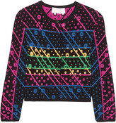 Peter Pilotto Galaxy cutout jacquard-knit cardigan