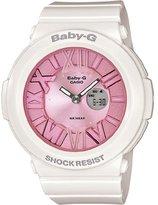 Casio Women's BGA161-7B2 Baby G White and Pink Watch