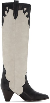 Isabel Marant 50mm Litz Suede & Leather Tall Boots