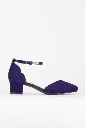 Wallis Navy Ankle Strap Heel Shoe