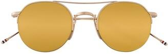Thom Browne Gold & Brown Aviator Sunglasses