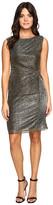 Ellen Tracy Galaxy Metallic Dress w/ Side Knot Detail
