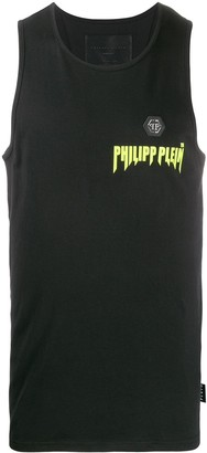 Philipp Plein Logo Patch Tank Top
