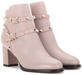 Valentino Garavani Rockstud Leather Ankle Boots
