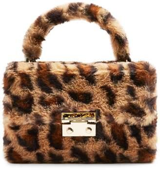Topshop Fizz Leopard-Print Faux Fur Box Grab Bag