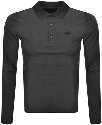 Replay Long Sleeved Evoflex Polo T Shirt Grey