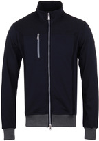 Paul & Shark Navy Cotton Twill Zip Through Sweatshirt