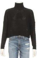 Autumn Cashmere Open Knit Thermal Turtle Neck Sweater