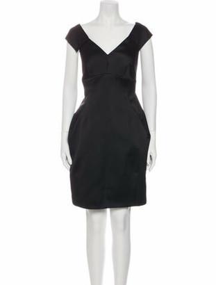 Marc Jacobs V-Neck Mini Dress Black