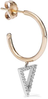 Adina Reyter 14-karat Gold, Sterling Silver And Diamond Earrings