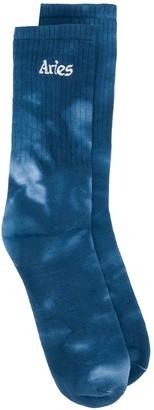 Aries Tie-Dye Print Socks