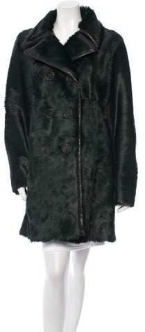 Derek Lam Ponyhair Double-Breasted Coat w/ Tags