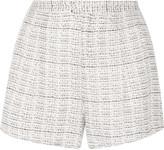 Haute Hippie Printed silk-organza shorts