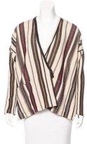 Giada Forte Wool-Blend Wrap Jacket