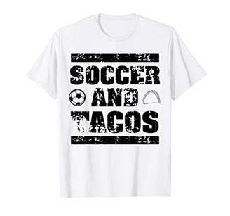 Soccer And Tacos | Cute Mex Sports & Food Lovers Gift T-Shirt
