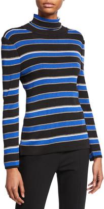 Misook Striped Turtleneck Long-Sleeve Tunic