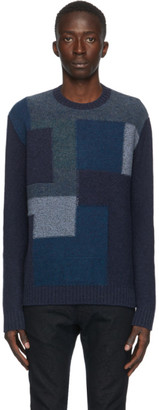 Etro Blue Patch Knit Crewneck