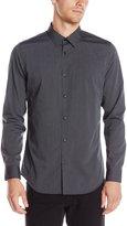 Calvin Klein Men's Stripe Long Sleeve Button Down Shirt