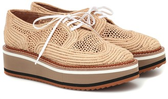 Clergerie Birdie raffia Derby shoes