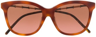 Gucci Bamboo-Effect Soft-Square Sunglasses