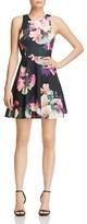 Aqua Neon Floral Scuba Dress - 100% Exclusive