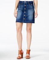 Dittos Chloe A-Line Blue Enzyme Wash Denim Skirt