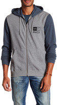 RVCA Right Box Colorblock Zip-Up Hooded Jacket