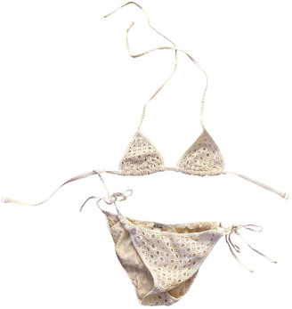 Chloé White Cotton Swimwear