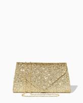 Charming charlie Glitter Crush Envelope Clutch