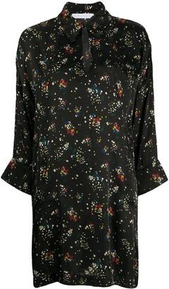 Societe Anonyme key-hole neckline floral print dress