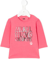 Karl Lagerfeld Loves Choupette long-sleeved top - kids - Cotton/Spandex/Elastane - 3 mth