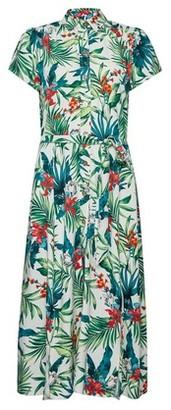 Dorothy Perkins Womens Multi Colour Tropical Print Shirt Dress