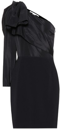 Stella McCartney Taffeta one-shoulder minidress