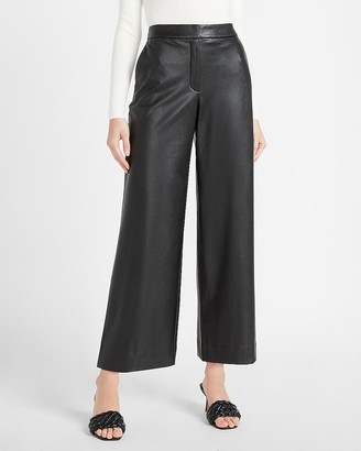 Express High Waisted Vegan Leather Culotte Pant