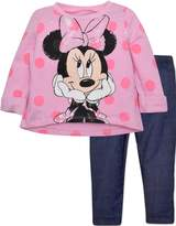 Disney Minnie Mouse French Terry Top and Denim Jeggings - with Polka Dots